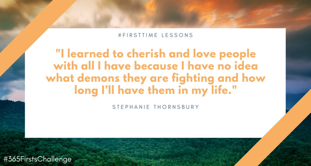 First time lesson from losing someone you love