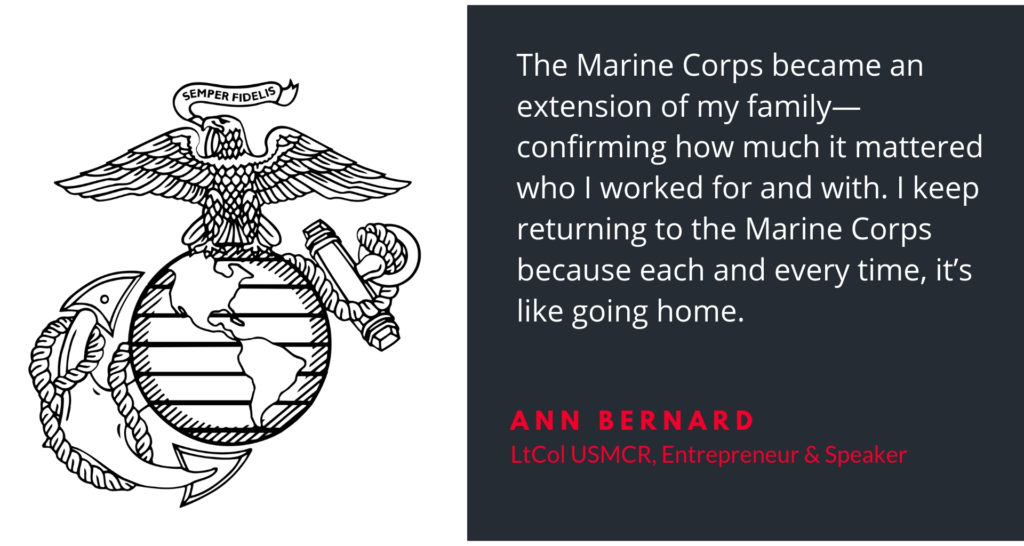 Marine Corps is an extension of my family and is like going home
